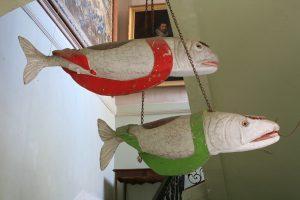 La collection d'objets d'art sur la pêche